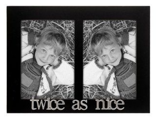 Malden 4107 235 Twice as Nice Expressions 2 Opening Frame, 3 by 5 Inch