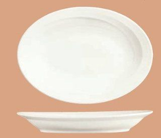 Syracuse China 987659313 Oval Platter, Rolled Edge, Silk Pattern, Royal Rideau, Alumina Body, 17.75x13 in, Case of 6: Kitchen & Dining