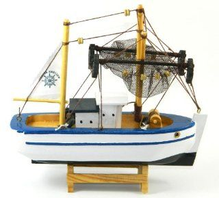 "7"" Sailing Fishing Boat Wooden Model Miniature ship collection MY 2032   Hobby Pre Built Model Boats"