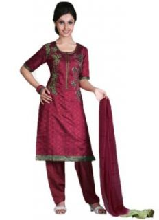 SLTi244R   Cbazaar Salwar Kameez Red: Clothing