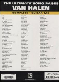 The Ultimate Song Pages Van Halen A To Z Gtr Tab Van Halen 0038081292489 Books