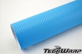 TeckWrap 49 X 5 Feet Light Blue 3d Carbon Fiber Car Wraps Foile Vinyl Film with Free Bubble (245 Square Foot): Automotive