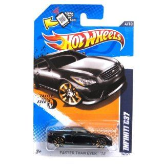 2012 Hot Wheels Faster Than Ever Infiniti G37 Black #94/247: Toys & Games