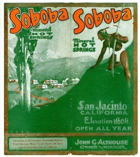 Soboba Mineral Hot Springs Brochure San Jacinto California 1930's Indian Village : Everything Else