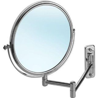 ... American Imaginations 252 8 Inch by 8 Inch Chrome Wall Mount Magnifying  Makeup Mirror Shelving Hardware ...