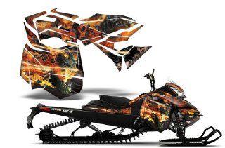 Firestorm AMRRACING Sled Graphics decal kit fits Ski Doo REV XM (2013 2014) Black: Automotive