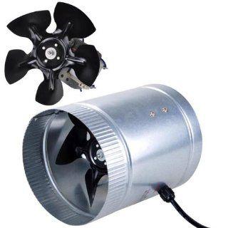 "Light Weight Indoor Garden 6"" 260 CFM Inline Duct Booster Vent Fan Blower Aluminum Blade"