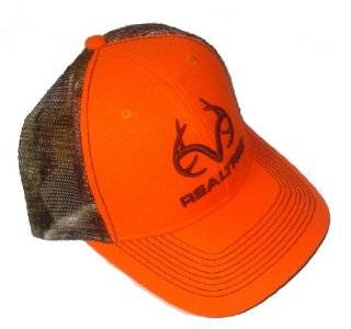 Blaze Orange & Camo Mesh Hunting Cap Hat ~ RO276_BLORG ~ REALTREE OUTFITTERS: Sports & Outdoors