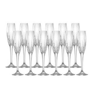 Mikasa Arctic Lights Crystal Champagne Flutes, Set of 12   Glass Kitchen & Dining