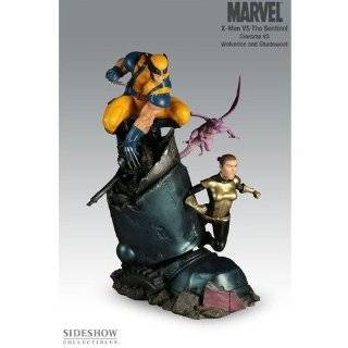MARVEL Dioramas: X Men vs. Sentinel #3   Wolverine & Shadowcat by Sideshow Collectibles!: Toys & Games