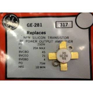 GE 281 NPN Silicon Transistor RF Power Output Amplifier 250W: Industrial & Scientific