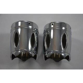 """Eddie Trotta Designs TC 993 Reverse Cut 4"""" Chrome Exhaust Tips for Harley with Rinehart Exhausts Automotive"""