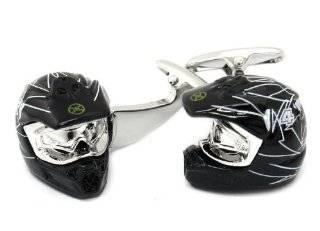 Motorcycle Motocross Helmet Cufflinks Cuff Daddy Jewelry
