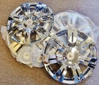 "Cadillac SRX Clad Wheel Skin Covers 18"" 2010 2011 2012 2013 Automotive"