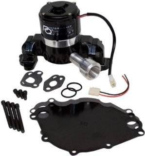 PRW 4430217 Black Powder Coated Performance Quotient Electric Racing Water Pump for Ford 302 351W Automotive
