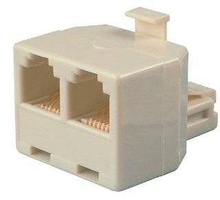 Allen Tel AT304B Auxiliary Power with One 4 Conductor 6 Position Plug, A 6 Conductor 8 Position and 2 Cconductor 6 Position Jack T Adapter Electronics