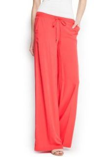 Mango Women's Palazzo Trousers, Coral, M: Clothing