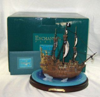 Disney Walt Disney Collector Club Peter Pan Jolly Roger Pirate Ship   Collectible Buildings