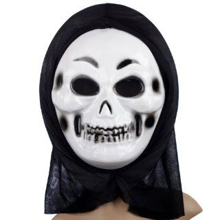 Halloween Ball Prop Horror Scary Skull Grimace Devil Thin Eyebrows Rotten Teeth Mask: Toys & Games