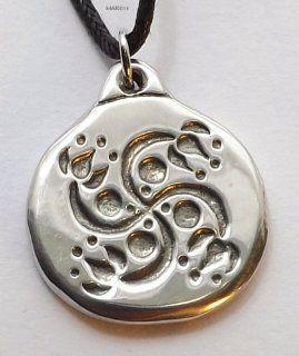 Lotus Swastika   Pewter Pendant   Hindu, Eastern Jewelry, Ganesha