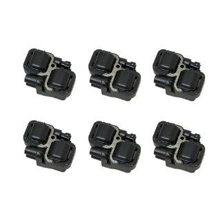 High Quality 6 month warranty Set of 6 Ignition Coil on Plug Coils Pack UF 359 UF359 610 585240001587303 0001587803 A0001587303 A000158780 Automotive