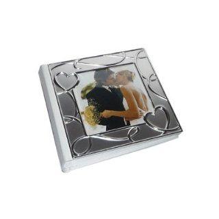 2 Tone Hearts Design Metal Wedding Photo Album (XFS369)