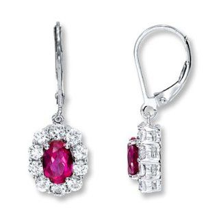 Kay Jewelers Lab Created Ruby Earrings Lab Created Sapphire Sterling Silver: Jewelry