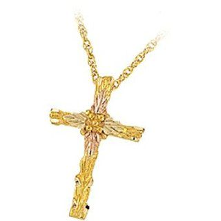 Pretty Yellow gold Black Hills Gold 4 leaf Cross Pendant: Jewelry