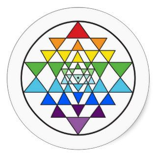 Sri Yantra Rainbow Sticker
