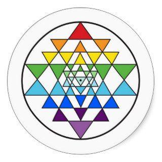 Sri Yantra Rainbow Sticker