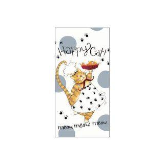 KAY DEE DESIGNS HAPPY CAT FLOUR SACK TOWEL   Kitchen Linens