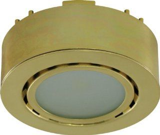 Liteline UCP LED1 PB LED Puck Light, 12V, Polished Brass   Under Counter Fixtures