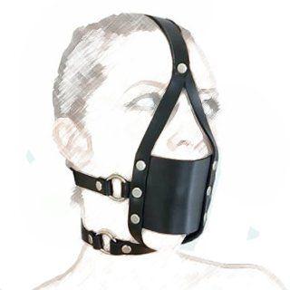 Extreme SEX ~ Strict Black Full Head Harness Mask Gag Muzzle Bondage Hard Ball Unisex ~ Sm059: Health & Personal Care