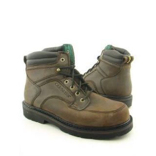 Carolina Mens Oblique Toe Work Leather Boot Shoes