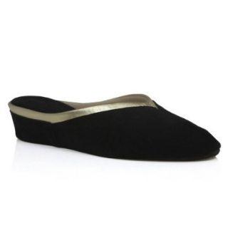 Jacques Levine Women's 4640 Black Suede/gold Trim: Shoes