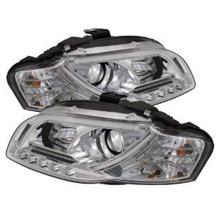 Spyder Auto (PRO YD AA405 LTDRL G2 C) Audi A4 Chrome Halogen Projector Headlight with LED Daytime Running Light Tube Automotive