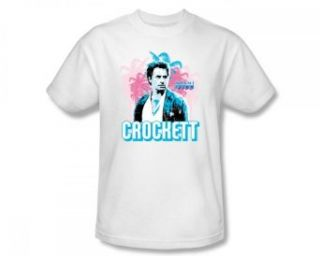 Miami Vice   Crockett Slim Fit Adult T Shirt In White Clothing