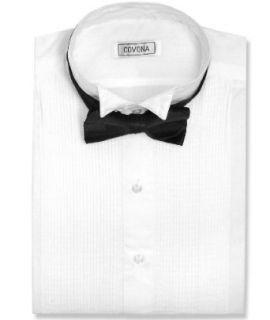 Men's Tuxedo White Dress Shirt w/ Black Bow Tie sz XLarge Clothing