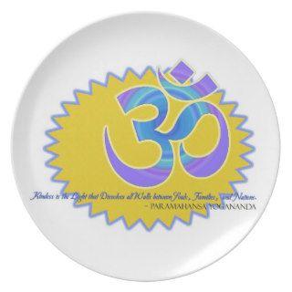 The Om Aum Symbol Paramahansa Yogananda Quote Plate