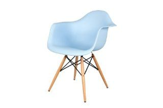 Control Brand Mid Century Inspired X Leg Arm Chair, Blue   Armchairs