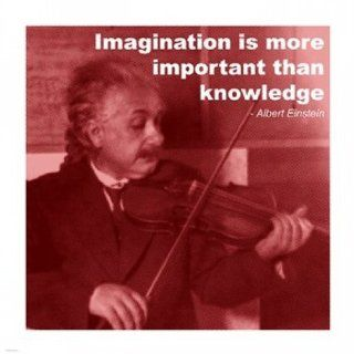 Einstein Imagination Quote Poster (14.00 x 14.00)   Prints