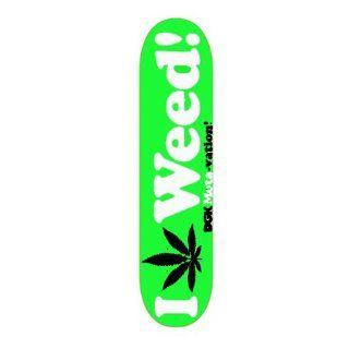 DGK Motivation I love Weed 420 Green 8.0 Skateboard Deck : Dgk Skateboards Complete : Sports & Outdoors