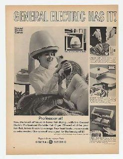 1966 General Electric Professional Portable Hair Dryer Print Ad (15193)