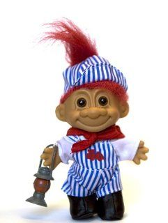 My Lucky Troll Train Conductor Troll Doll (Red Hair): Toys & Games