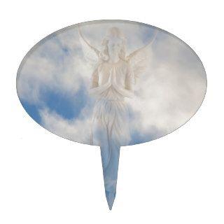 Angel in blue heaven cloudy sky by healing love cake topper