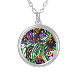 Japanese Dragon Tattoo Necklace