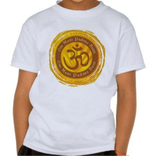 Tibetan Mantra with Aum Symbol T Shirt