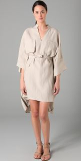 Derek Lam Embroidered Poncho with Self Belt