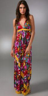 Tbags Los Angeles String Halter Long Dress