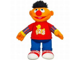 Playskool Sesame Street Rockin Numbers Ernie Plush Stuffed Animal Sings & Talks